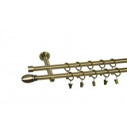 Karnisz metalowy nowoczesny 19mm - Aria - Złoto antyk