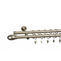 Karnisz metalowy nowoczesny 19mm - Aria - Satyna